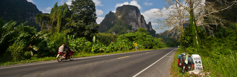 Road out of Khao Sok National Park
