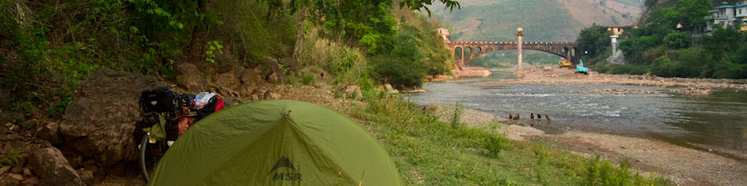 Camping was a challenge in Yunnan