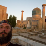 Me in front of Amir Temur Mauseleum, Samarkand